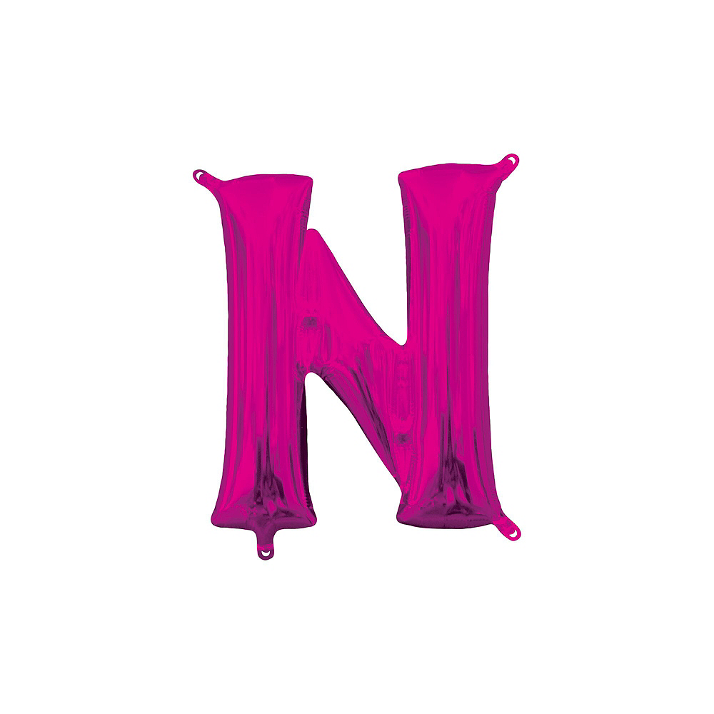 Air-Filled Pink Congrats Grad Letter Balloon Kit Image #6