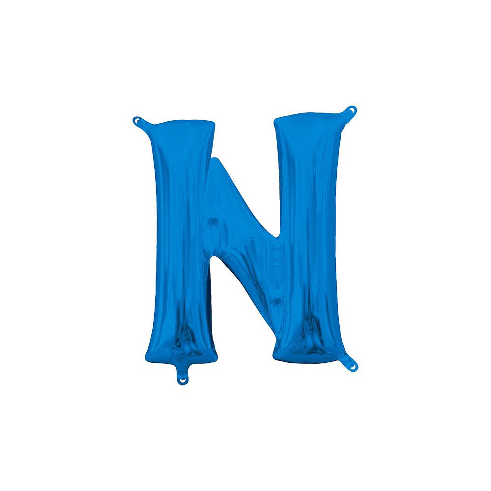 Air-Filled Blue Congrats Grad Letter Balloon Kit Image #6