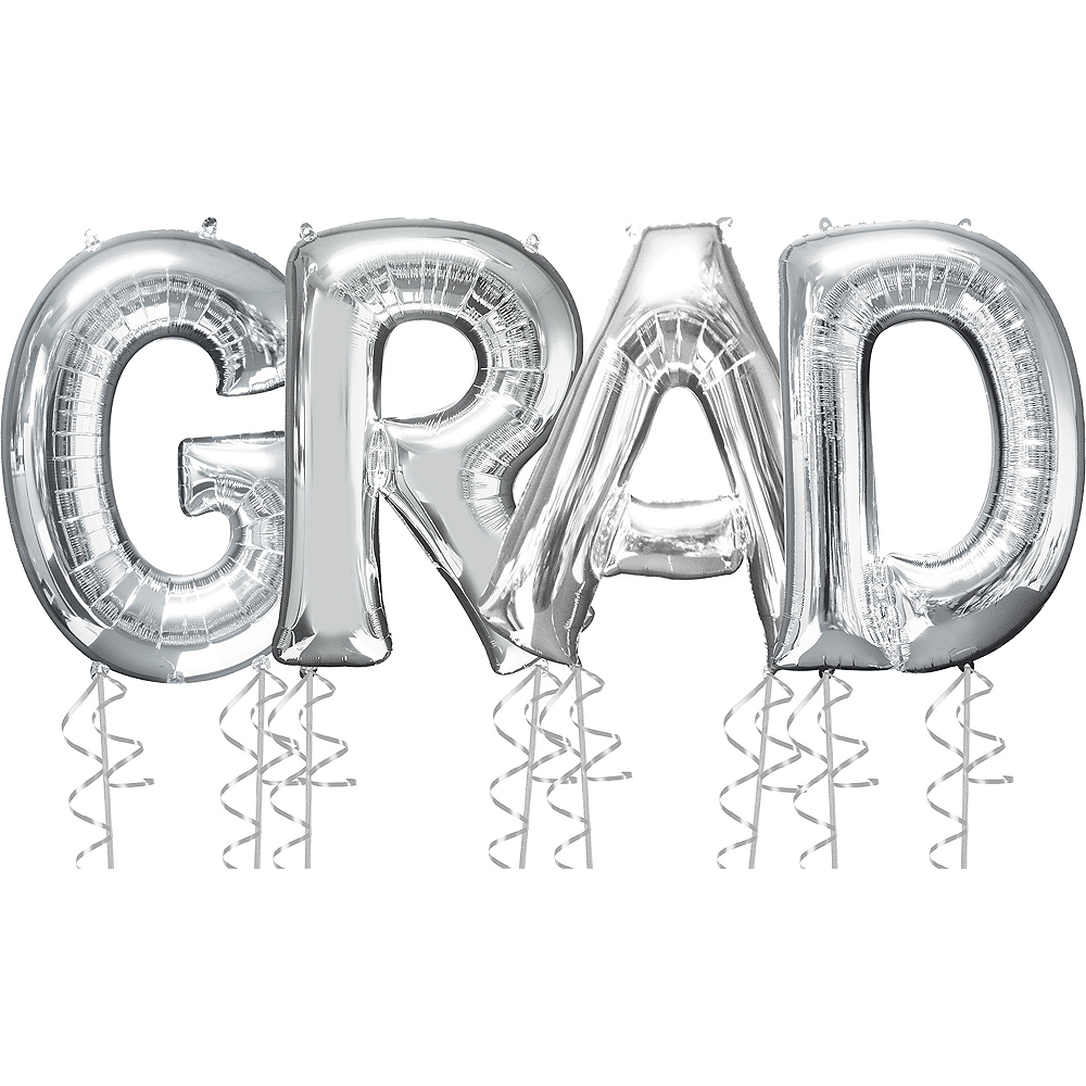Giant Silver Grad Letter Balloon Kit Image #1