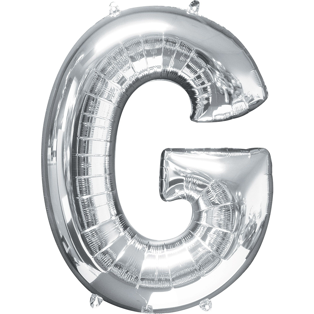 Giant Silver Grad Letter Balloon Kit Image #5