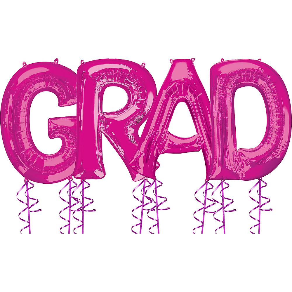 Giant Pink Grad Letter Balloon Kit Image #1