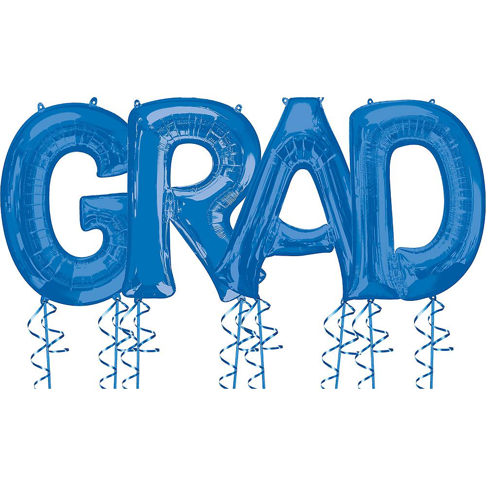Giant Blue Grad Letter Balloon Kit Image #1