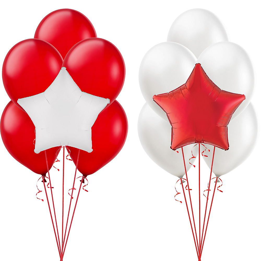 Red & White Balloon Kit Image #1