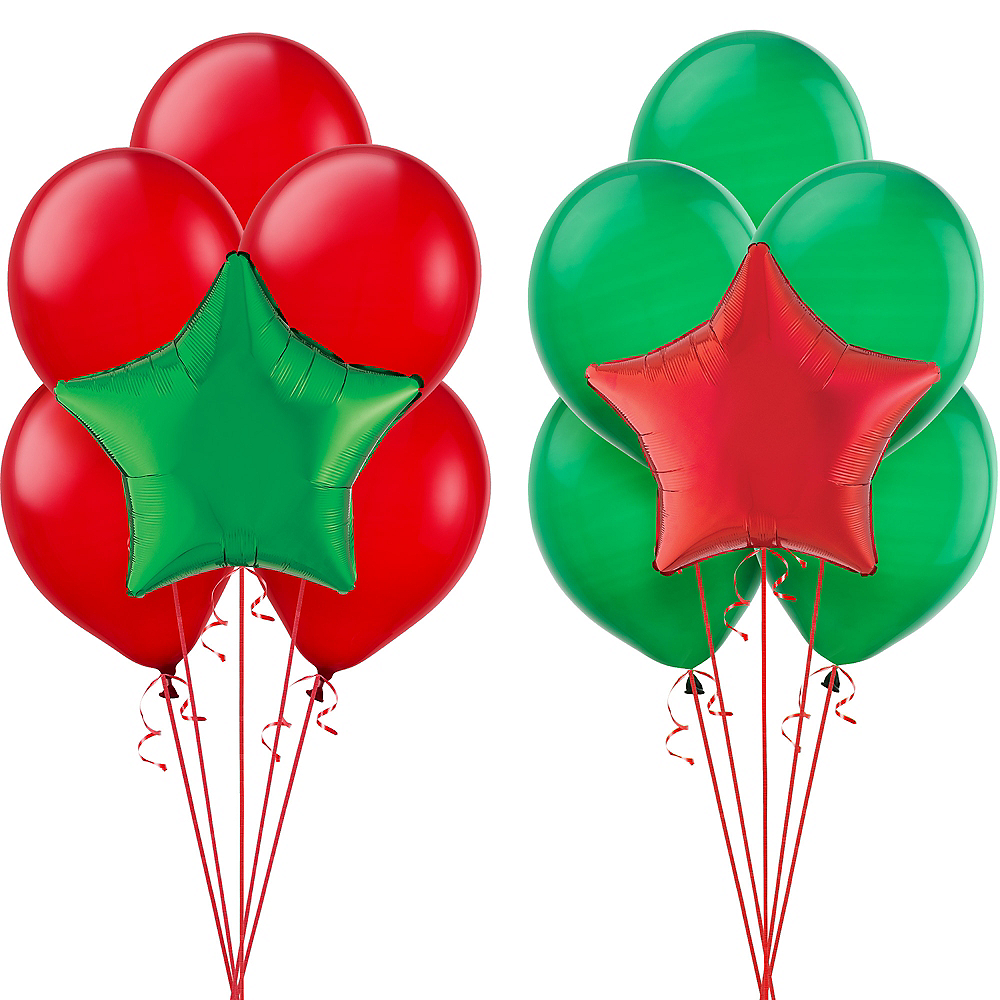 Green & Red Balloon Kit Image #1