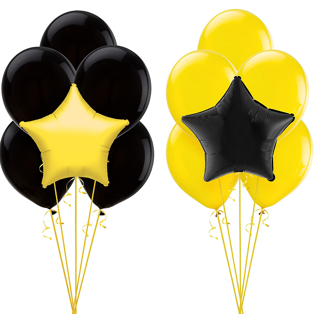 Black & Yellow Balloon Kit Image #1