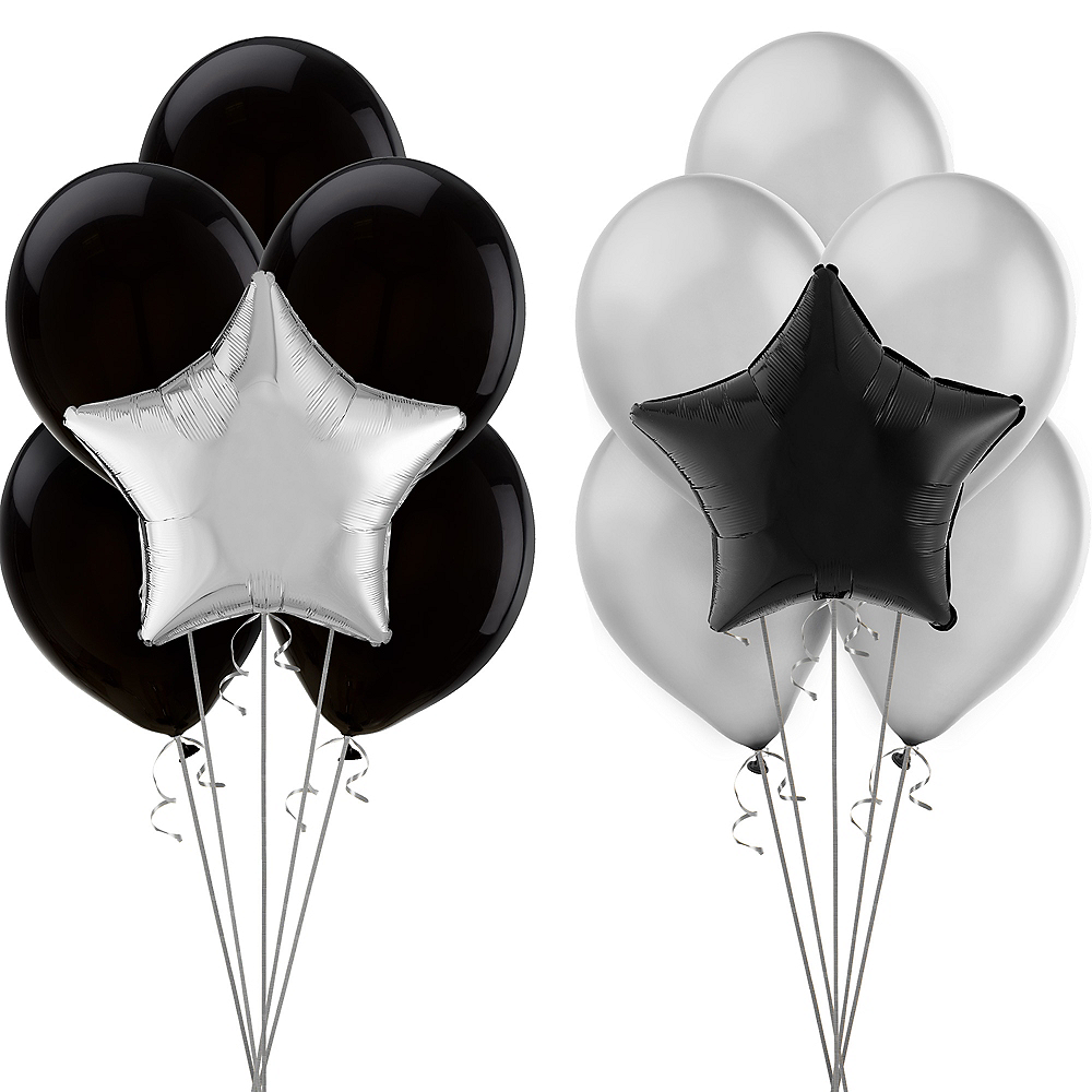 Black & Silver Balloon Kit Image #1