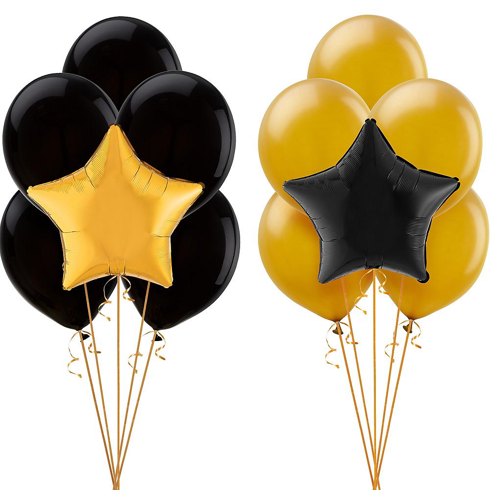 Black & Gold Balloon Kit Image #1