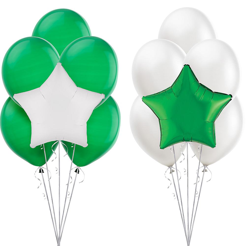 Green & White Balloon Kit Image #1