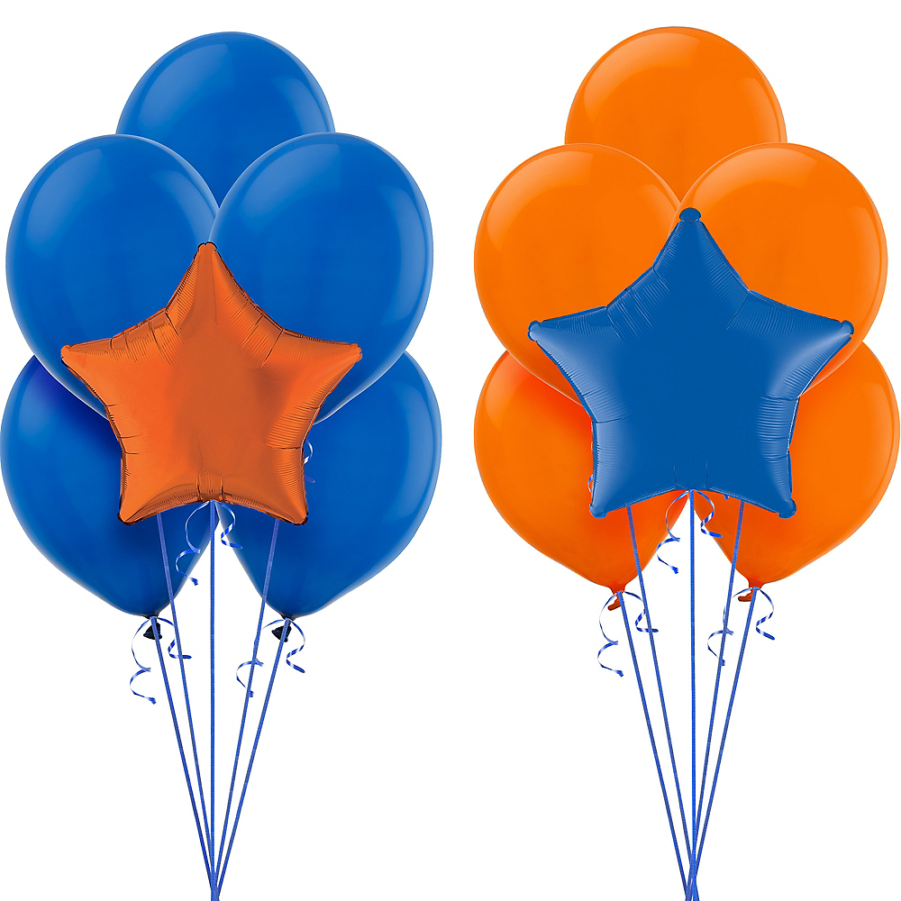 Blue & Orange Balloon Kit Image #1