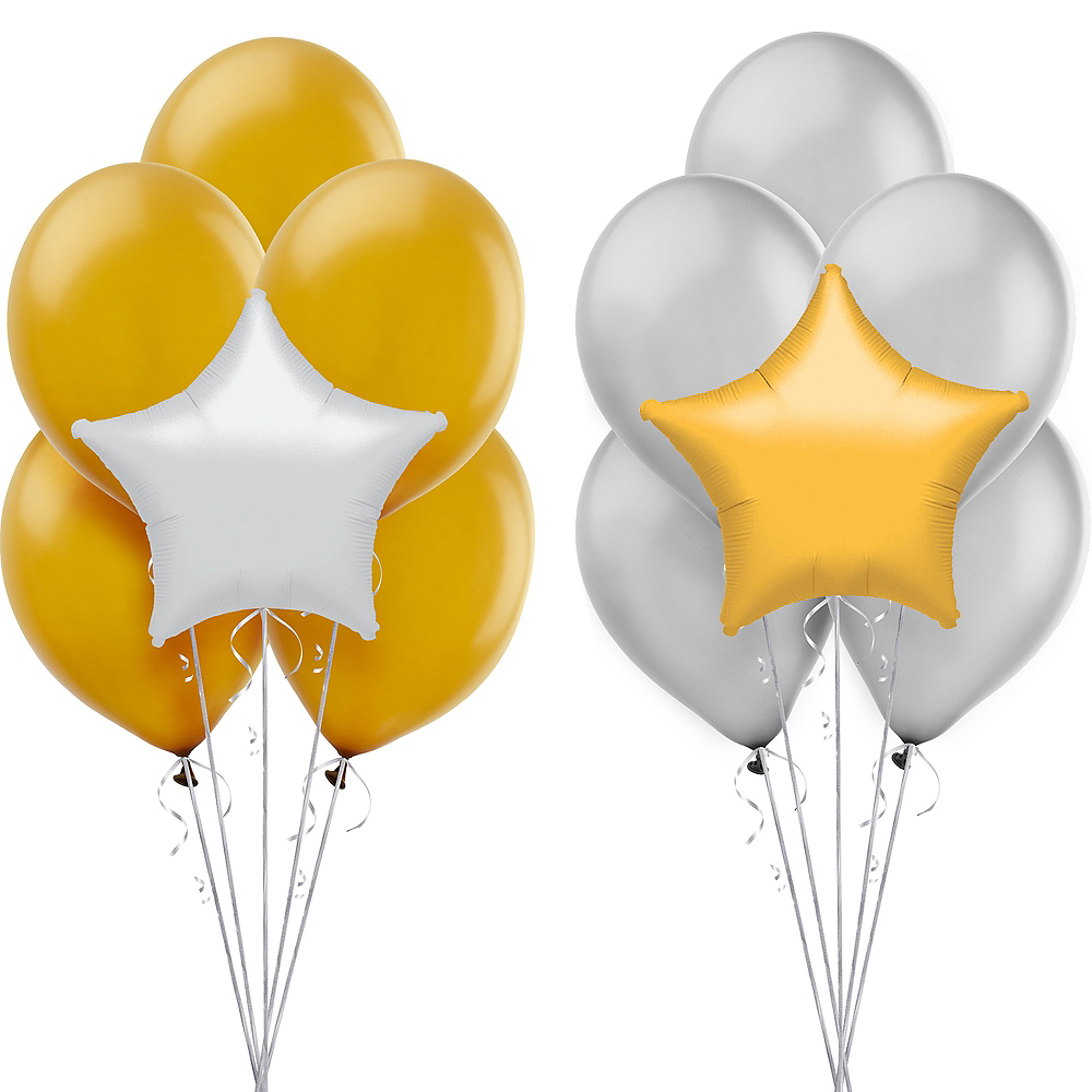 Gold & Silver Balloon Kit Image #1