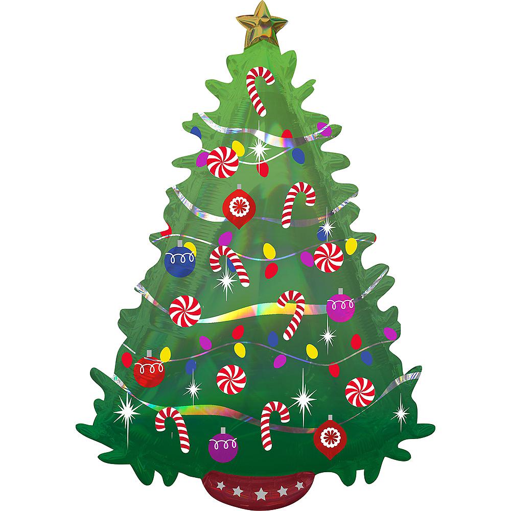Green Christmas Tree Balloon, 26in Image #1