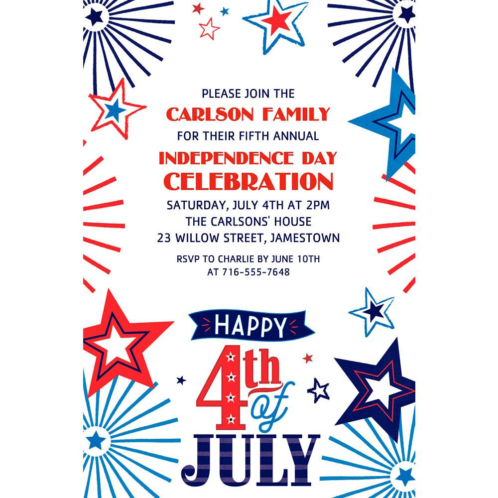 Custom 4th of July Patriotic Invitation Image #1