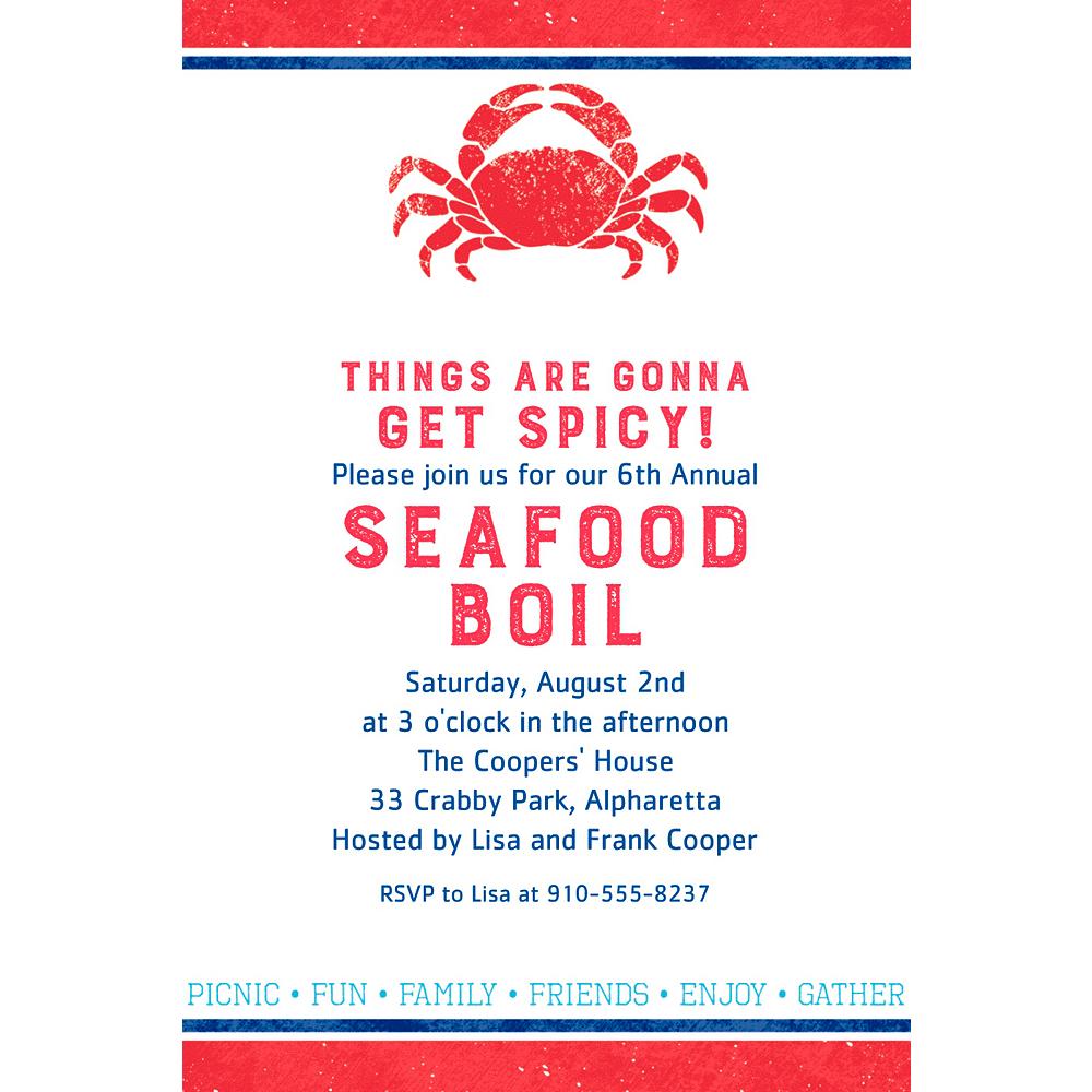 Custom Seafood Invitation Image #1