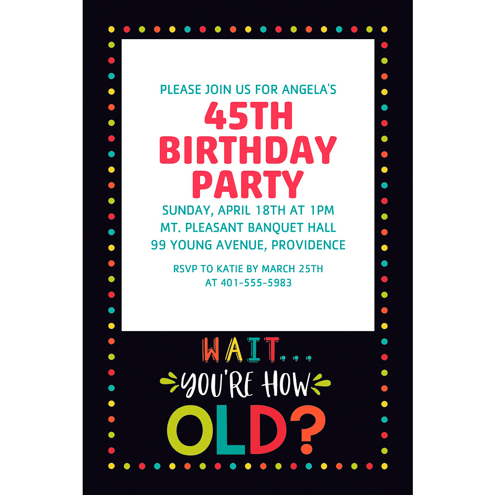 Custom Over the Hill Birthday Invitation Image #1