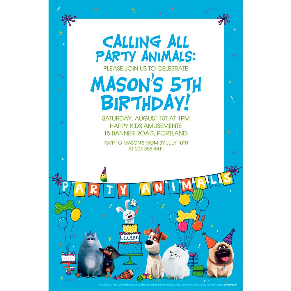 Secret Life Of Pets 2 Invitation