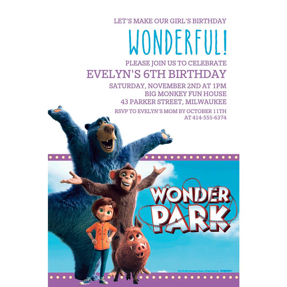 Custom Wonder Park Invitation Image #1