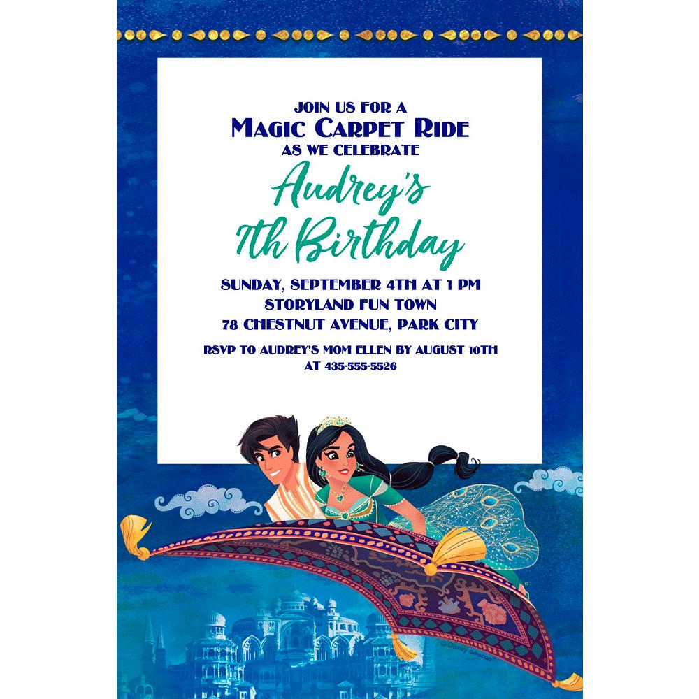 Custom Aladdin Invitation Image #1
