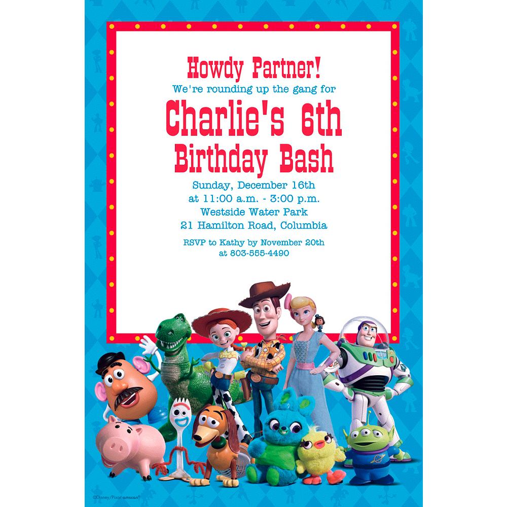 Custom Toy Story 4 Invitation