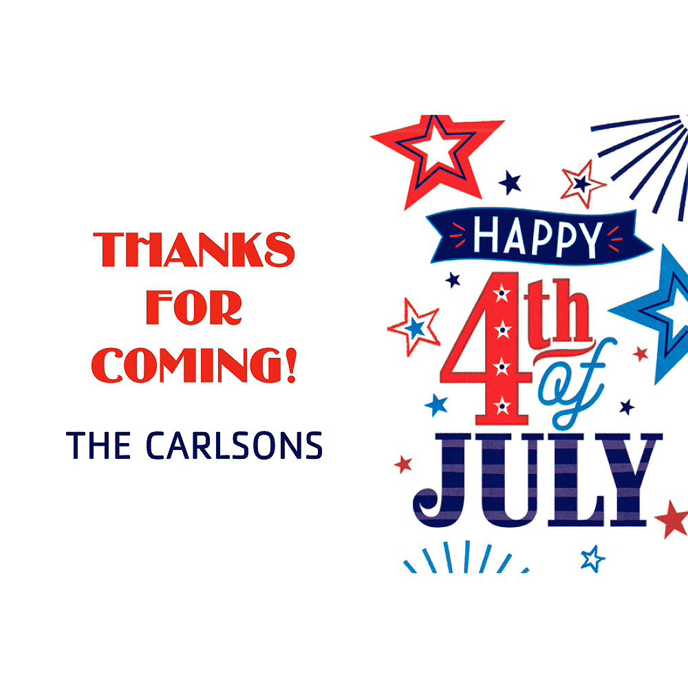 Custom 4th of July Patriotic Thank You Note Image #1