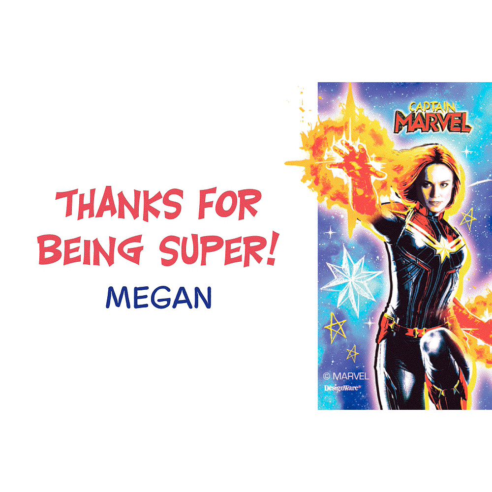 Custom Captain Marvel Thank You Note Image #1