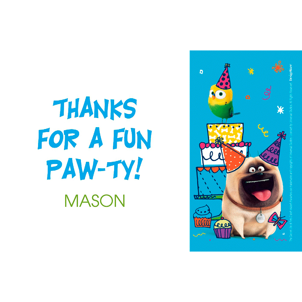 Custom The Secret Life of Pets 2 Thank You Note Image #1