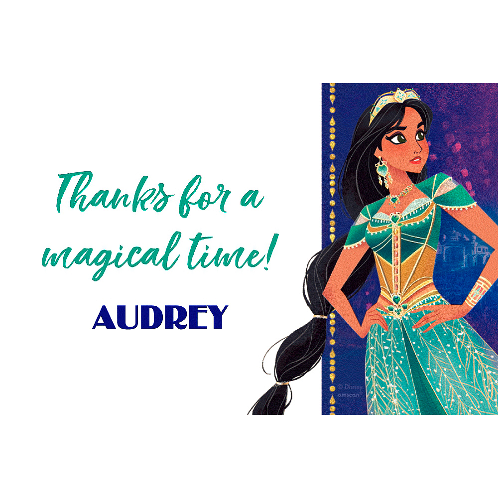 Custom Aladdin Thank You Note Image #1