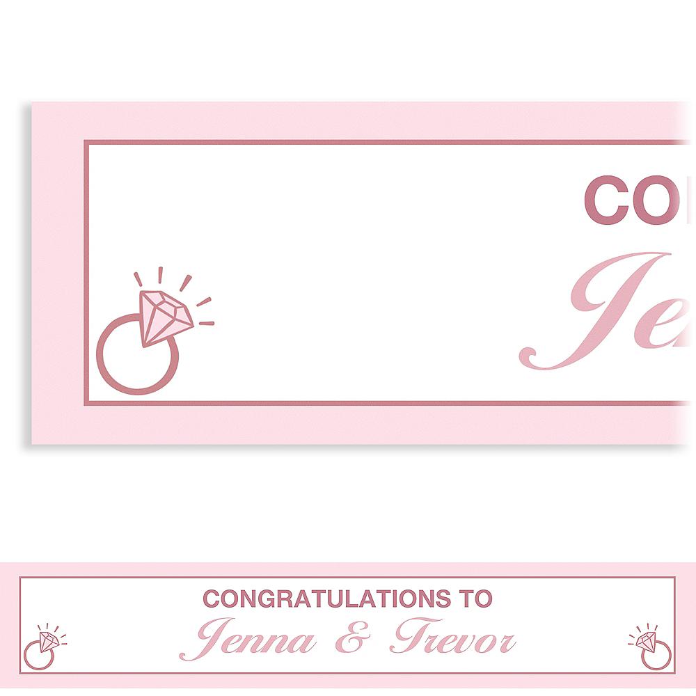 Custom Blush Wedding Banner Image #1
