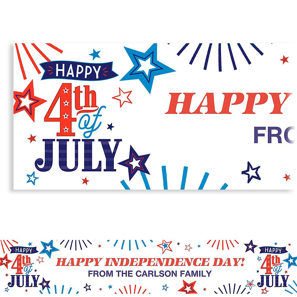 Custom 4th of July Patriotic Banner Image #1