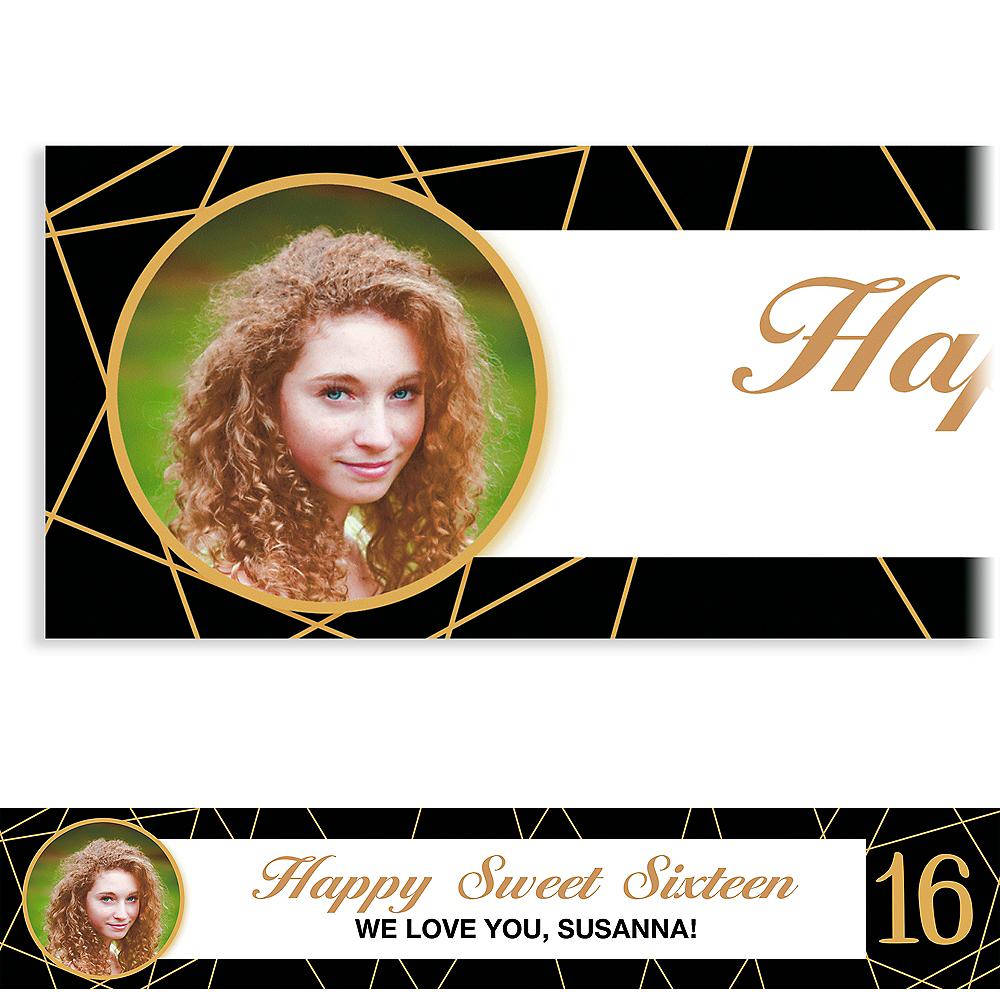 Custom Elegant Sweet 16 Photo Banner Image #1