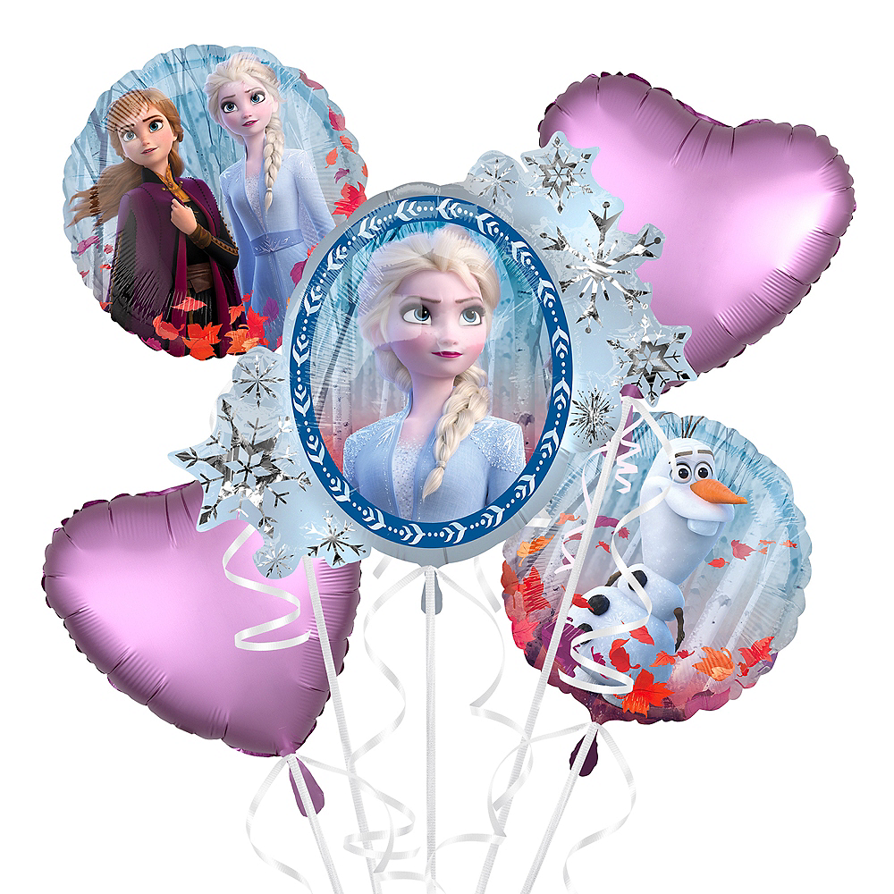 Nav Item for Frozen 2 Balloon Bouquet 5pc - Giant Image #1