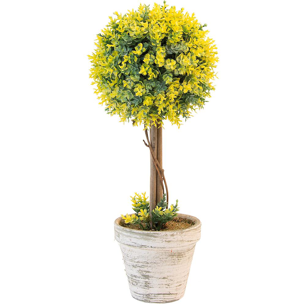 Yellow Ball Topiary Image #1