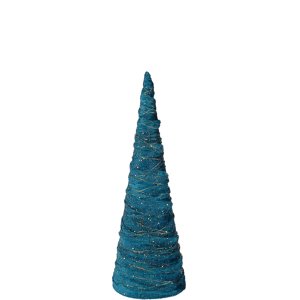 Medium Glitter  Teal Christmas Tree Image #1