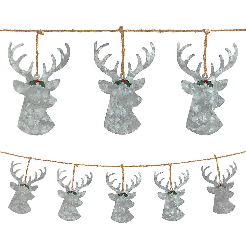 Metal Reindeer Christmas Banner Image #1