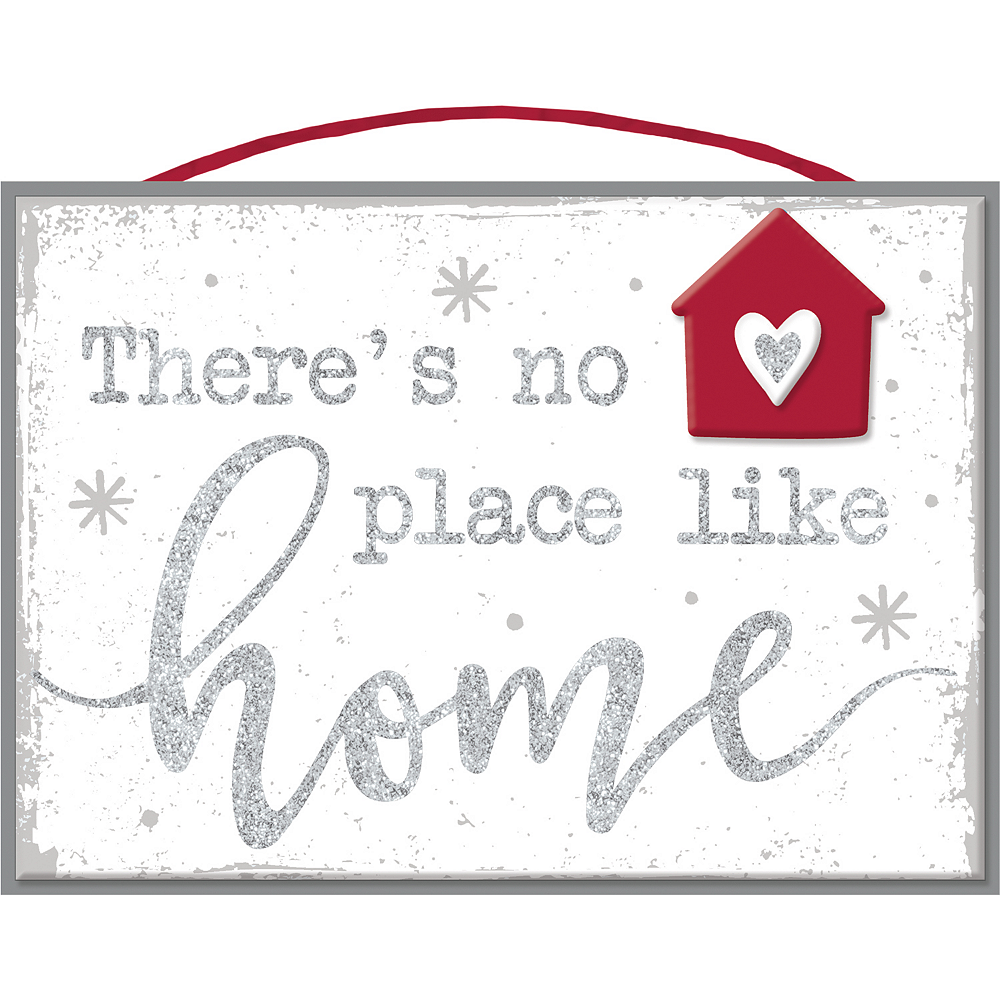 Glitter There's No Place Like Home Sign Image #1