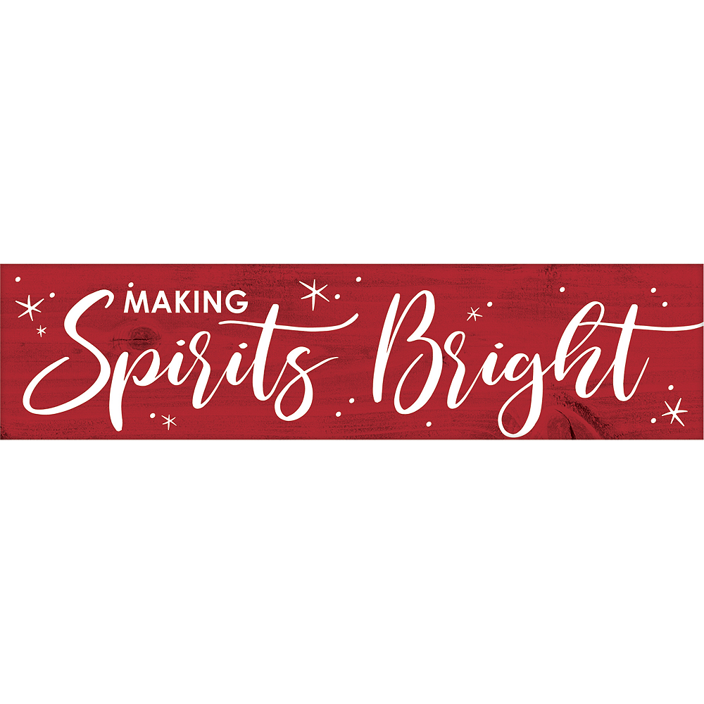 Mini Winter Making Spirits Bright Sign Image #1