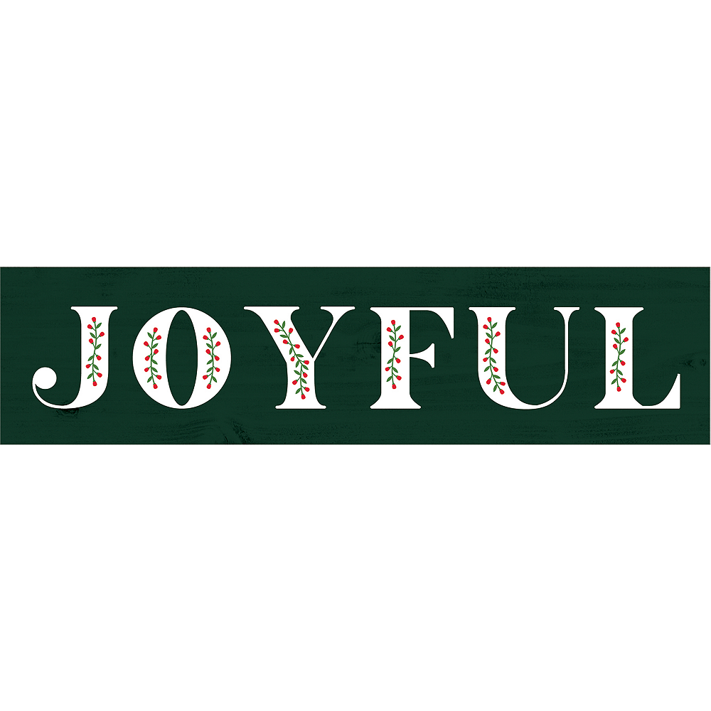 Mini Green Joyful Sign Image #1