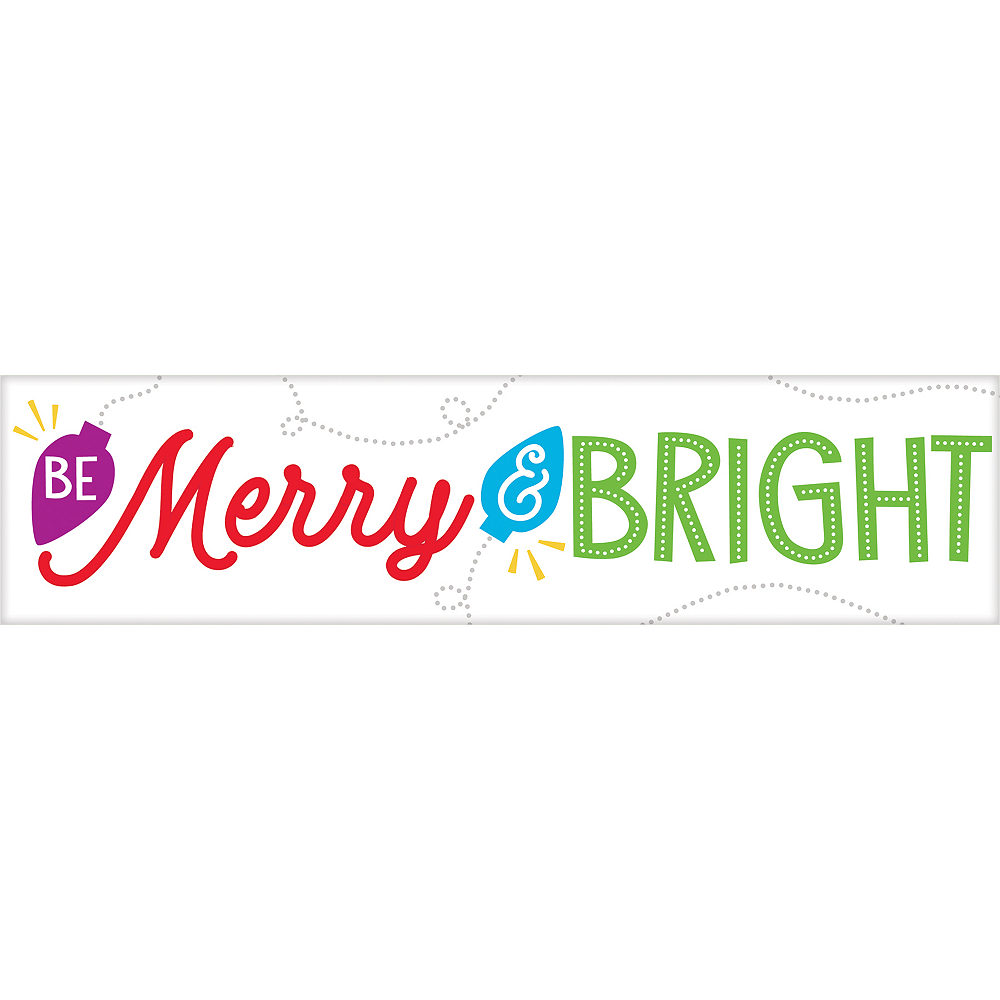 Mini Winter Be Merry & Bright Sign Image #1