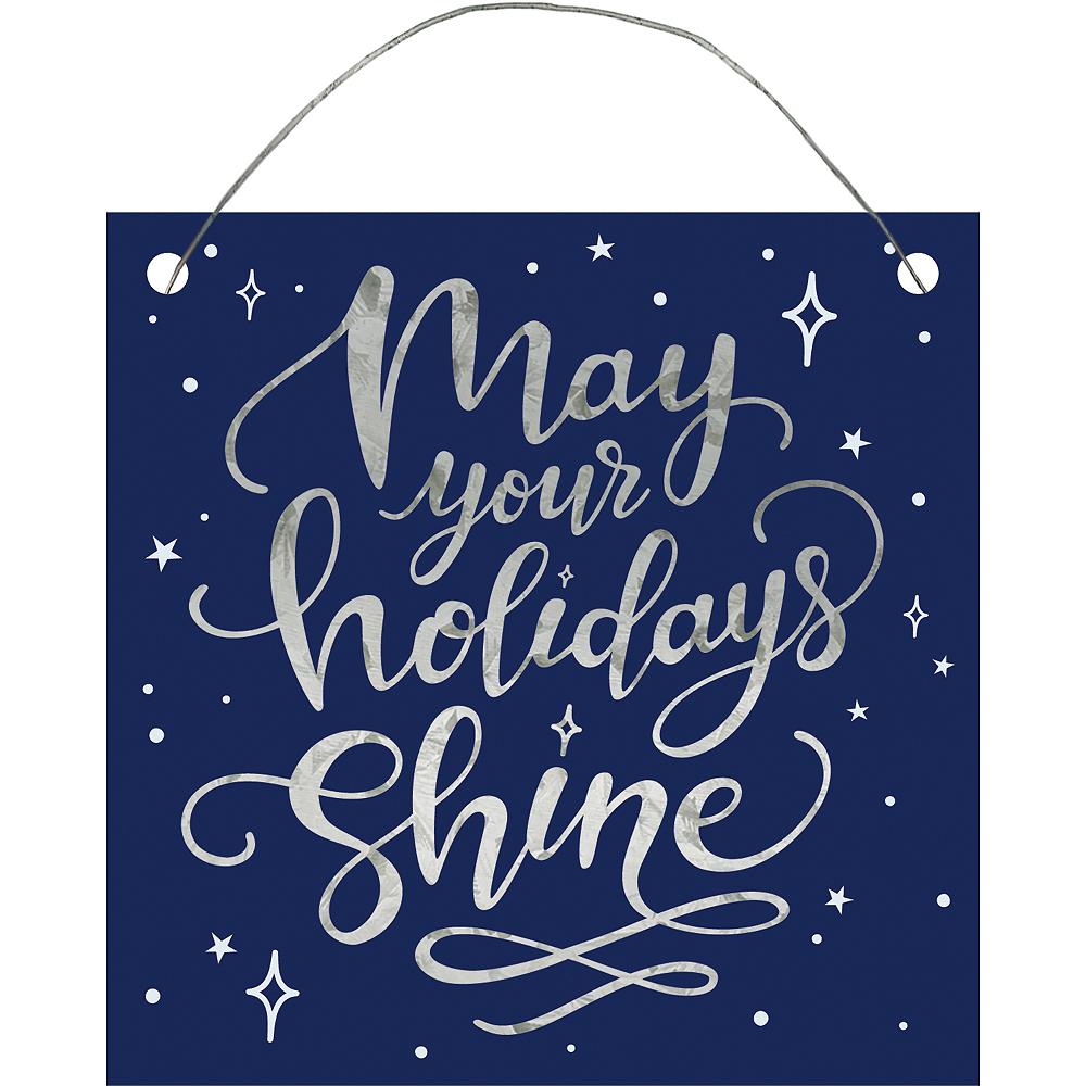 Mini May Your Holidays Shine Sign Image #1