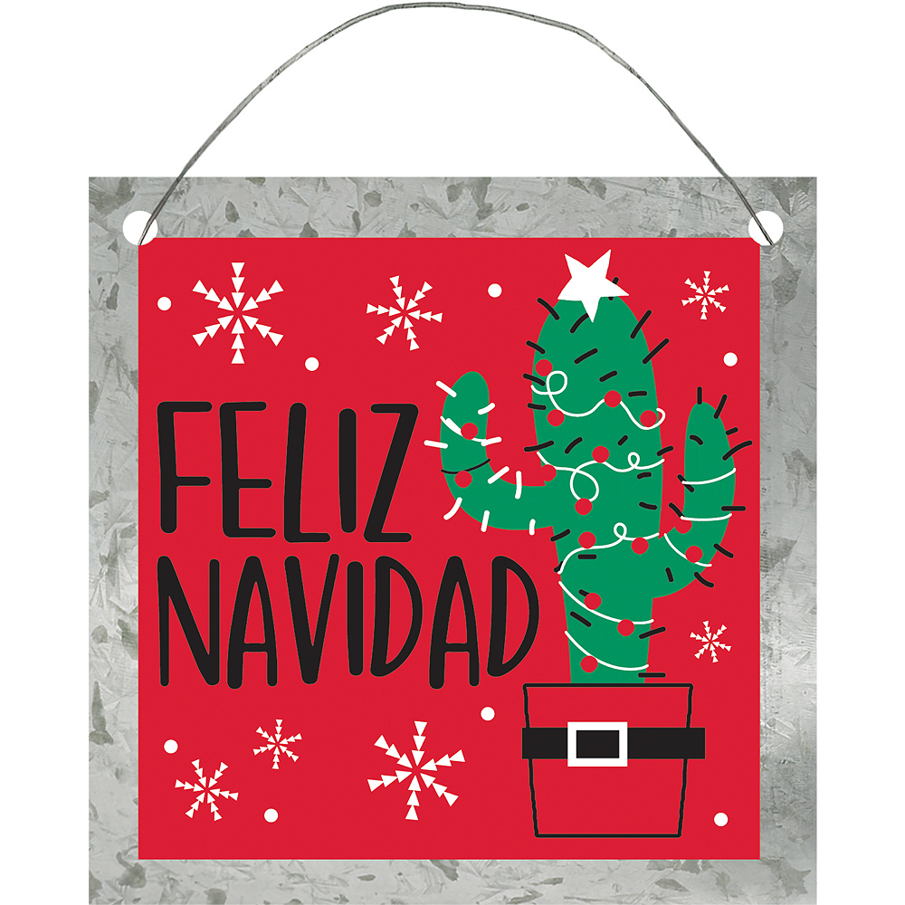 Nav Item for Mini Feliz Navidad Cactus Sign Image #1