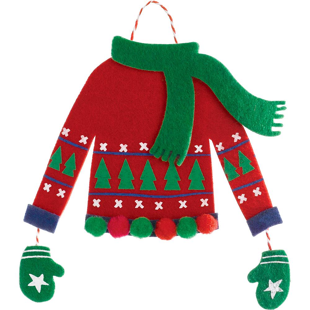 Felt Christmas Sweater Ornament Image #1