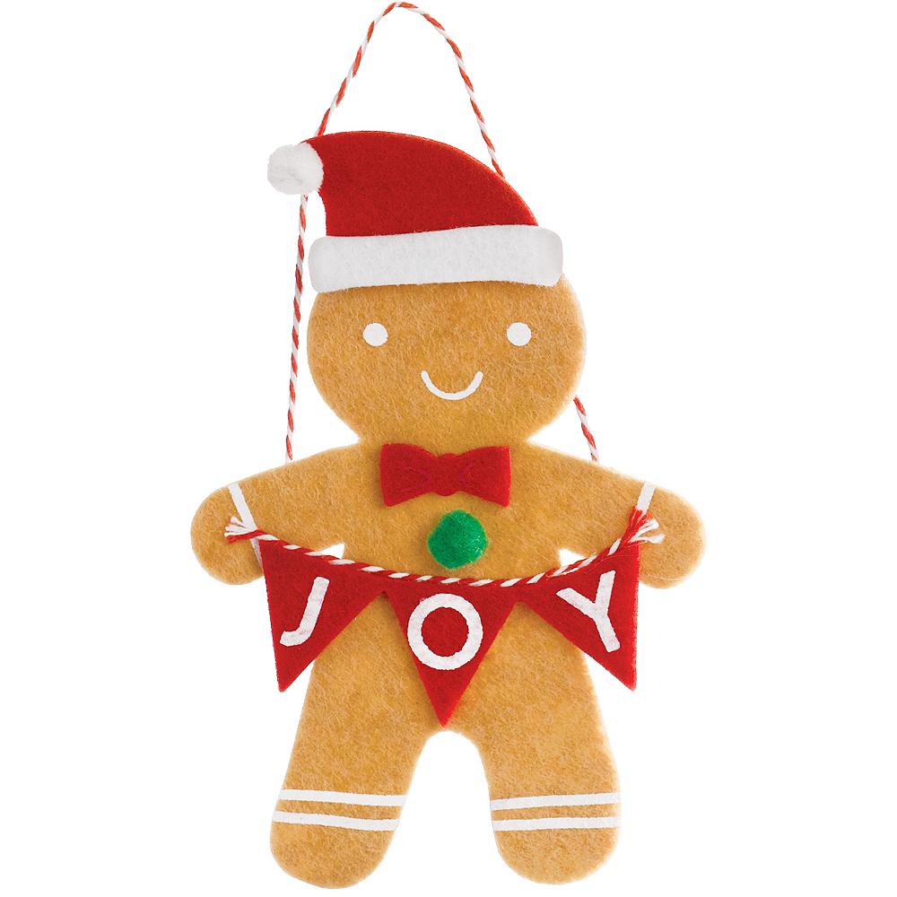 Felt Gingerbread Man Ornament Image #1