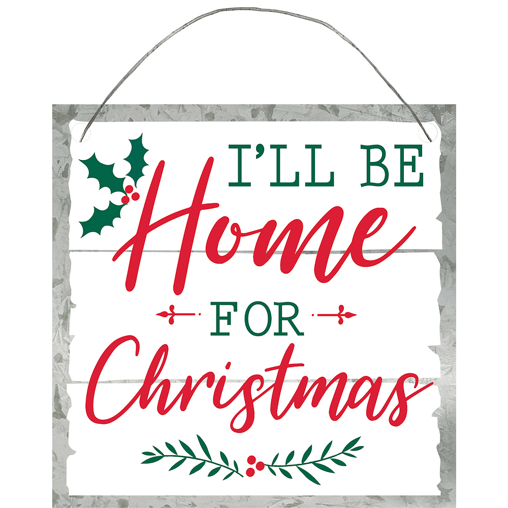 Mini I'll Be Home for Christmas Sign
