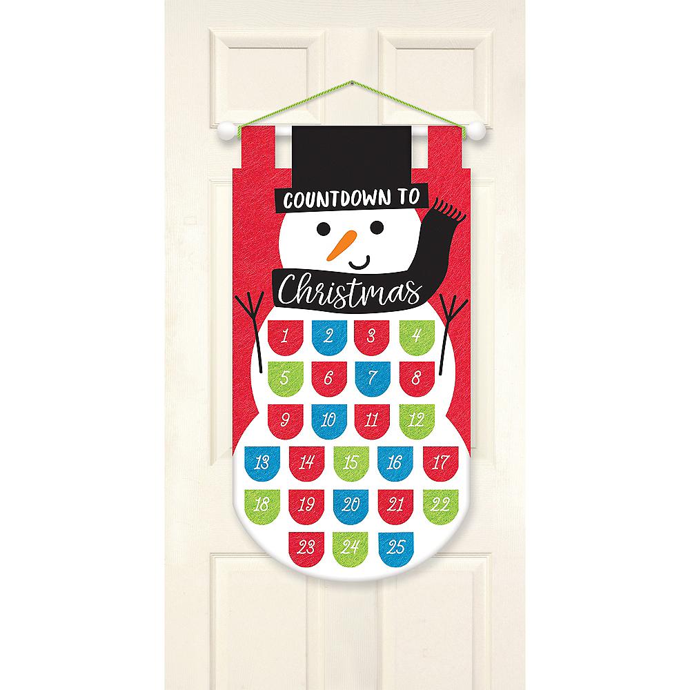 Felt Snowman Christmas Countdown Advent Calendar Image #1