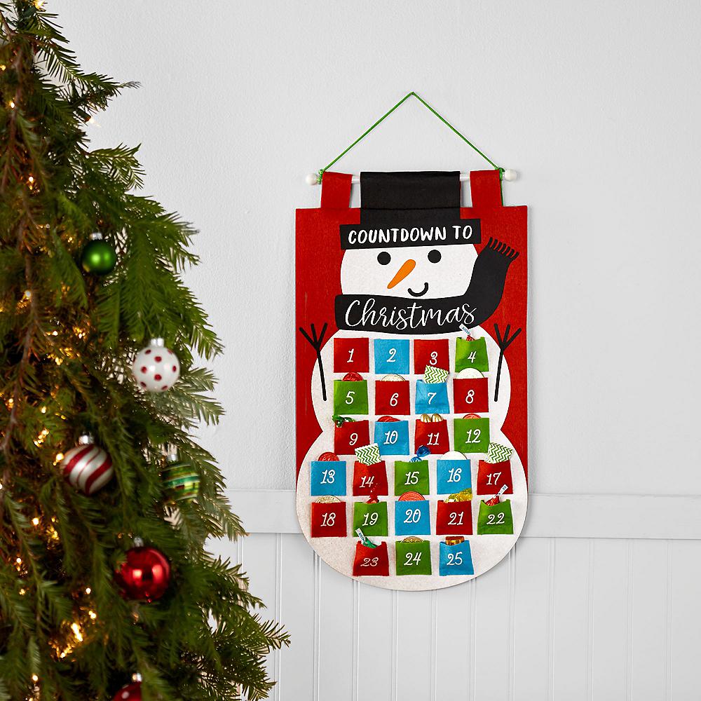 Felt Snowman Christmas Countdown Advent Calendar Image #2
