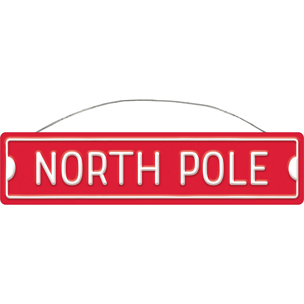 North Pole Metal Sign Image #1