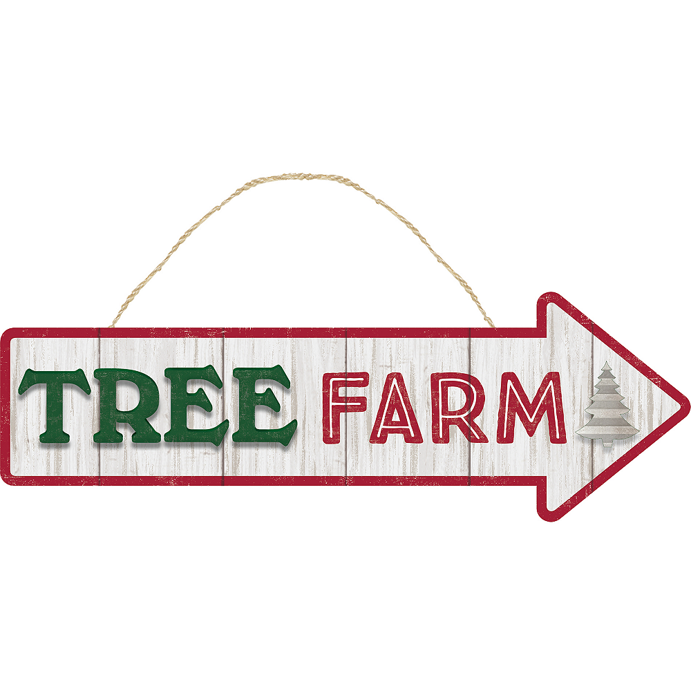 Tree Farm Directional Sign Image #1