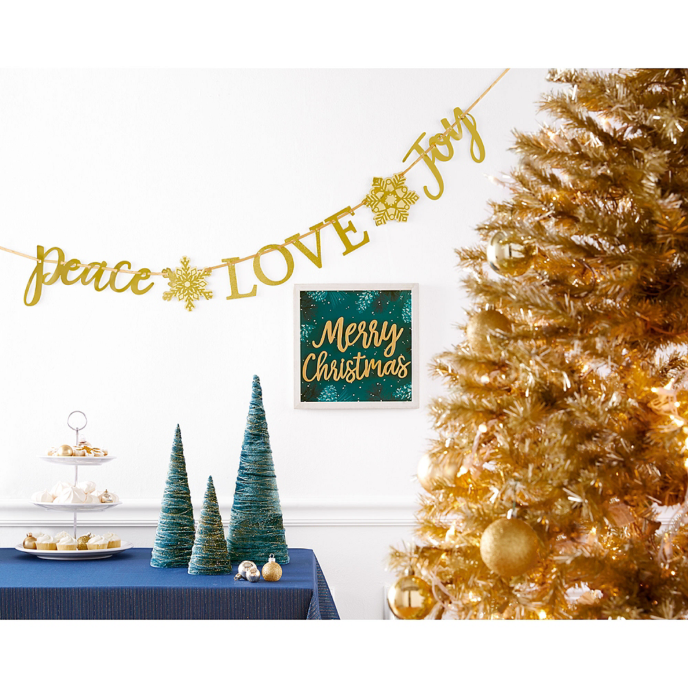 Teal Very Merry Christmas Block Sign Image #2