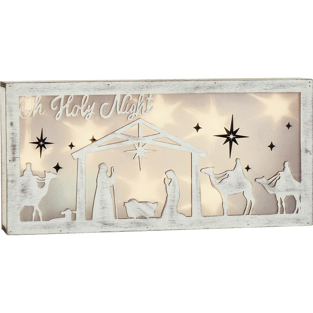 Light-Up Nativity Block Sign Image #1
