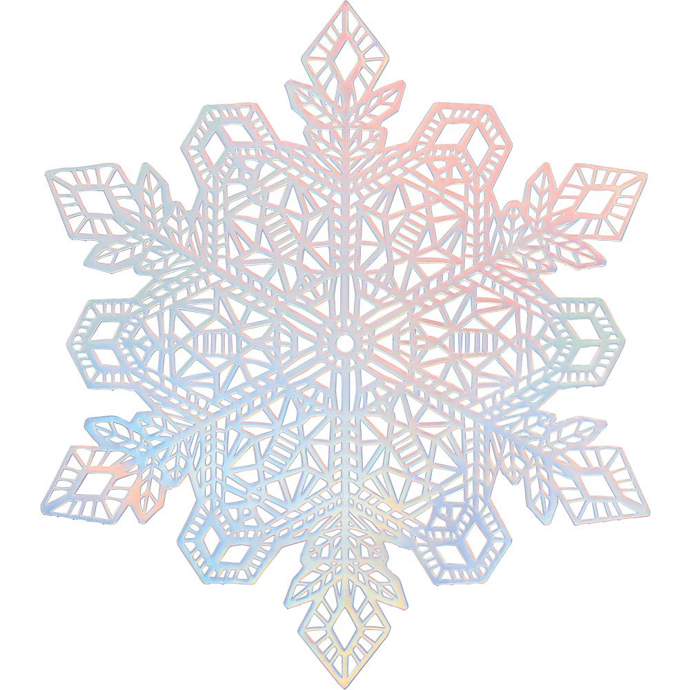 Nav Item for Iridescent Snowflake Vinyl Placemat Image #1