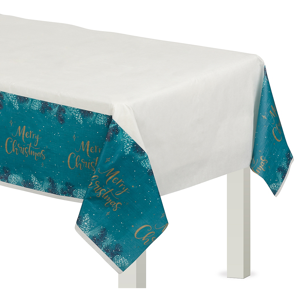 Teal Very Merry Table Cover Image #1